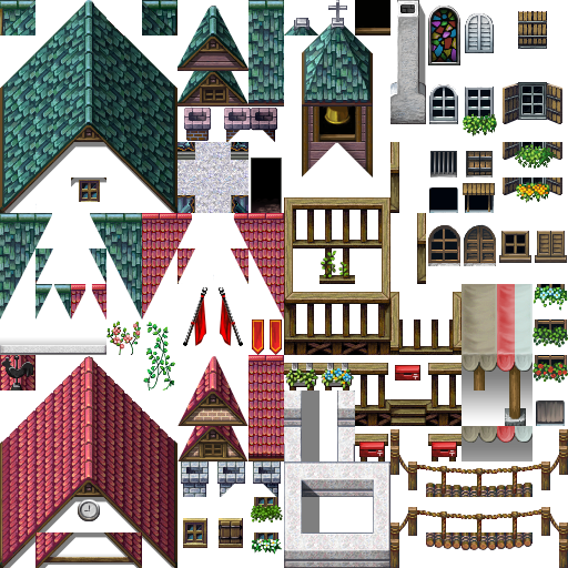 Une gamme de Tiles complète (du A1 jusqu'au E). Tilec